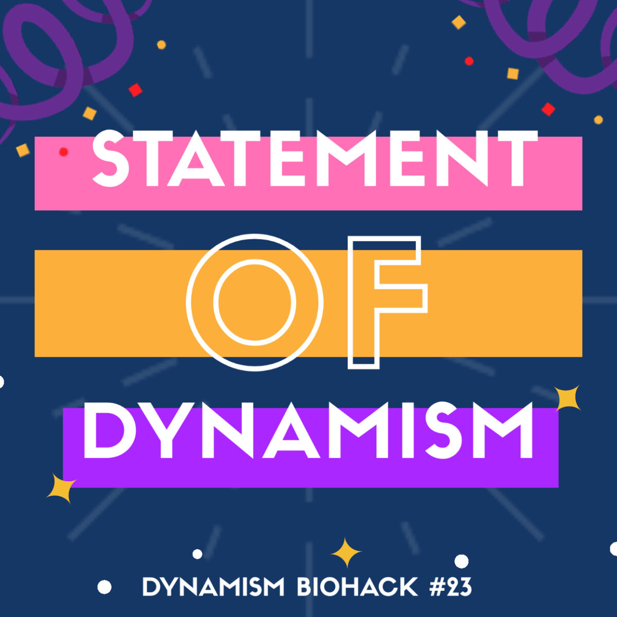 #23: Statement of Dynamism