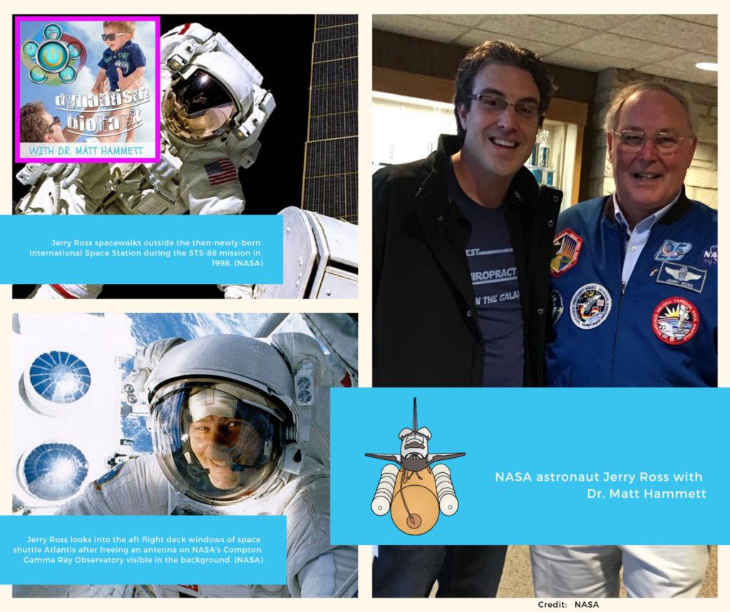 Astronaut Jerry Ross with Dr. Matt Hammett